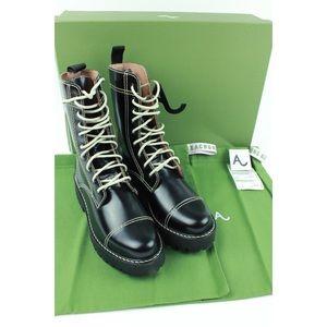 ALEXACHUNG Heavy Thread Leather Military Boots